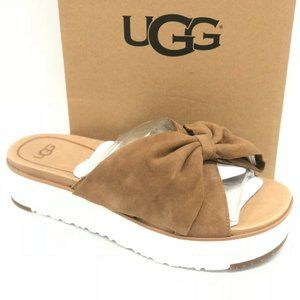UGG Bow Slides Sandals Brown